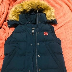 Superdry NEW Womens Navy Rookie Down Gilet